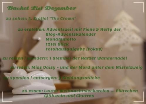 Bucket List Dezember
